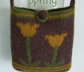 Felted Bag Pattern, Felted Purse Pattern - Spring