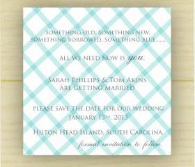 Criss cross save the date (set of 10)