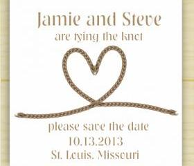 Tying the Knot Save the Date (set of 10)