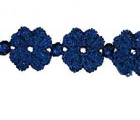 Blue Indigo Clover Lucky Friendship Bracelet