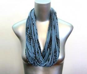 Fashion Jewelry Scarf Infinity Womens Blue Black Boho Infinity Circle Necklace Scarves Loop Eternity Necklush Fabric unique Tribal Hipster