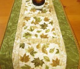 Nature and Leaves Table Runner
