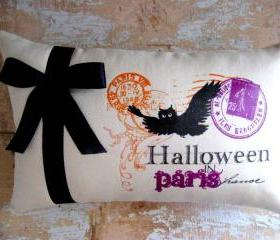 Halloween Pillow, Bats, French Country, Halloween Decoration