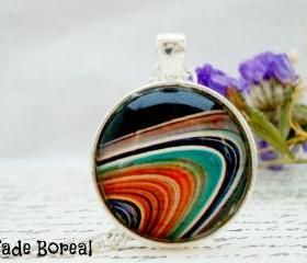 Galaxy V- handmade glass pendant