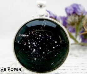 Galaxy VII- handmade glass pendant constellation