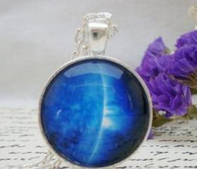 Galaxy IX- handmade glass pendant