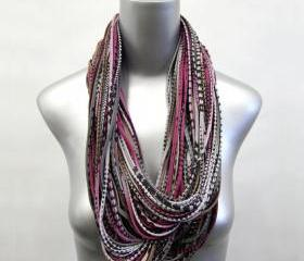 Burning Man Winter Light Brown Scarf Burgandy Eternity Loop Grey Necklace Jersey Circle Scarves Womens Mens Infinity Summer Cotton Large