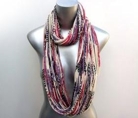 Eggplant Infinity Winter Scarf Purple Cowl Magenta Necklace Jersey Burning Man Summer Circle Scarves Womens Mens Loop Spring Chunky