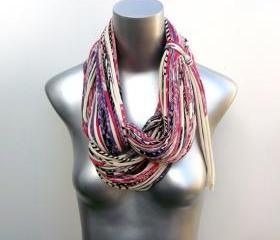 Infinity Scarf Circle Loop Purple Necklace Jersey Burning Man Eco-Friendly Clothing Scarves Organic Magenta Womens Mens Unique Eggplant 