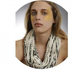 Infinity Scarf Cream Black Circle Loop Necklace Jersey Burning Man Scarves Womens Men Organic Summer Winter Chunky Eco-Friendly Clothing
