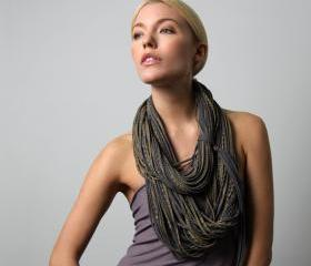 Boho Fashion Neck Scarf Winter Womens Burning Man Necklace Jersey Circle Scarves Mens Cotton Infinity Spring Summer Titanium Grey Gold