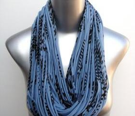 Burning Man Scarf Eco-Friendly Clothing Saphire Blue Brown Organic Necklace Chunky Cowl Jersey Circle Scarves Womens Mens Infinity Scarfs