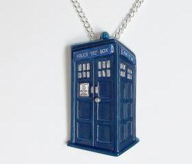 Tardis Pendant and Necklace