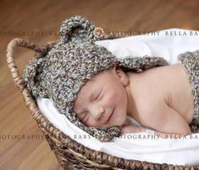 Newborn Baby Hear Hat & Diaper Cover Set