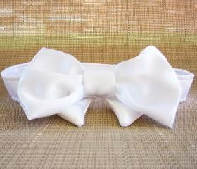 Dog Wedding Bow Tie Winter Ice White all sizes