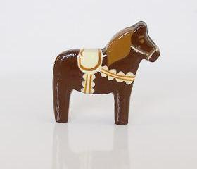 Rocky Road Ice Cream Clay Pony Dala Horse Figurine