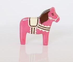 Neapolitan Ice Cream Clay Pony Dala Horse Figurine