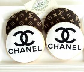 Cookies Chanel & Louis Vuitton Inspired (Any designer) Perfect for Favors for Wedding, Bridal Showers, Baby Showers, Engagements,Birthdays,