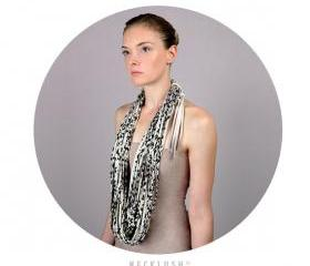 Infinity Scarf Leopard Print Cowl Necklace Fabric Jewelry Thick Winter Summer Mens Womens Neck Scarves Eternity Circle Chunky Jersey Cotton