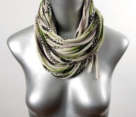 Eternity Scarf Cowl Infinity Winter Green Brown Thick Necklace Fabric Jewelry Summer Mens Womens Neck Scarves Circle Chunky Jersey Cotton