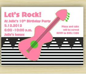 Rocker Girl Birthday Invitation (set of 10)