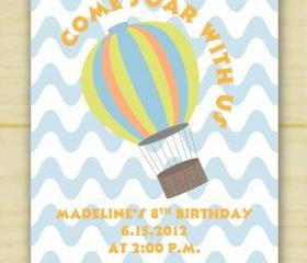 Hot Air Balloon Invitations (set of 10)