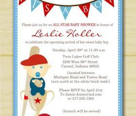  It's a boy sports baby shower invitation (set of 10)
