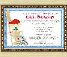 Baby Boy Sports Baby Invitation (set of 10)