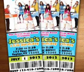 THE FRESH BEAT BAND PARTY BIRTHDAY INVITATION TICKET CARDS CUSTOM INVITES PARTY