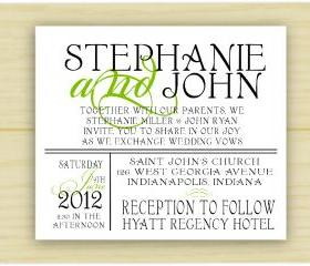 Stephanie and ohn Wedding Invitation (set of 10)