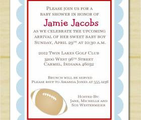 Baby Boy Sports Baby Shower Invitation (set of 10)
