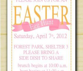 Easter Egg Hunt Invitation (set of 10)