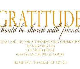 Thanksgiving Invitation (set of 10)