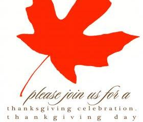 Red Leaf Thanksgiving Invitation (set of 10)