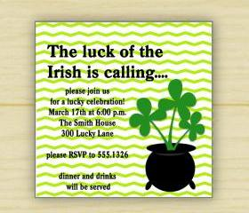The Luck of the Irish Invite (set of 10)