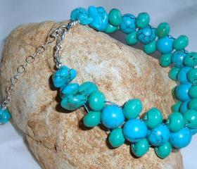  Turquoise Bracelet Gemstone Handmade Jewelry