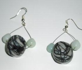Jasper Drop Style Earrings gemstone handmade jewelry