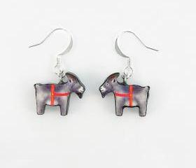 Polymer Clay Yule Goat Earrings