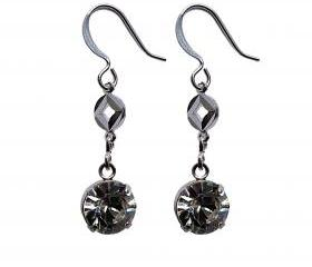 Swarovski Crystal and Silver Dangle Earrings