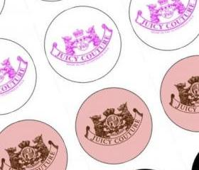 Juicy Couture Fondant Cupcake Toppers 12, Perfect for Birthdays, Bridal Showers or Any Juicy Couture Lover