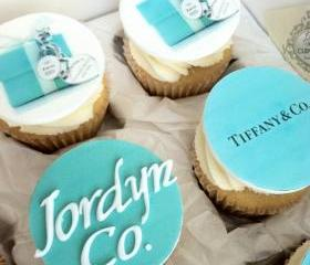 Fonadnt Tiffany & Co. Inspired Cupcake Toppers, Perfect for Birthdays, Bridal Showers, Bachelorette Parties