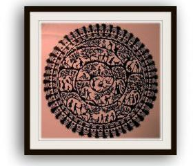 Handmade Papercut - in black - Life Cirlcle