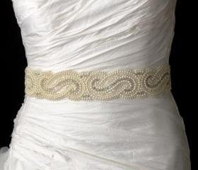 Bridal Belt with Swarovski Crystals
