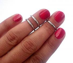 3 Above the Knuckle Rings - Antique Silver Above Knuckle Ring - Set of 3 by Tiny Box