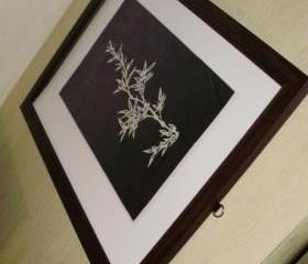 Sweet Mother Day Gift Option - handmade art papercut work - Elegant young Bamboo paper cut art work