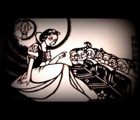handmade papercut art work - Snow White and the Seven Dwarfs