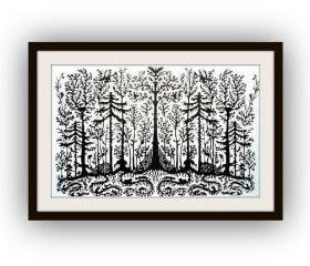 Handmade Paper Cut out Work - forest - Limited Edition