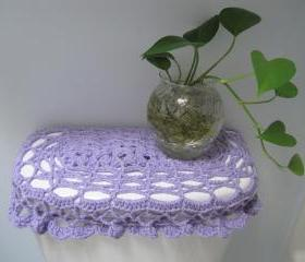 Crochet Tank Lid Cover, Cozy for Toilet Tank Lid -Lilac (TTL11)