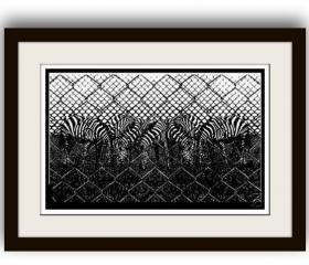 Handmade Paper cutting Art Work zebra
