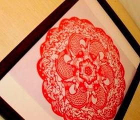 Sale - Deal - 6 carps - handmade Paper cut - Rich life tatoo
